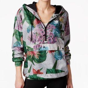Floral Adidas Windbreaker